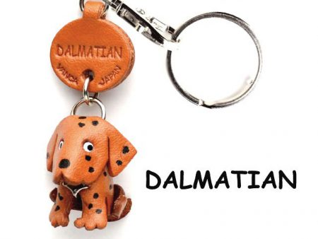 DALMATIAN LEATHER DOG KEYCHAIN VANCA