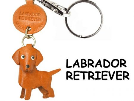 LABRADOR RETRIEVER LEATHER DOG KEYCHAIN VANCA