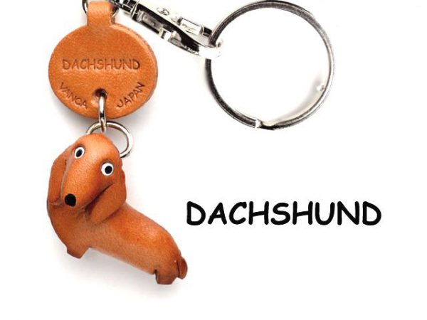 DACHSHUND LEATHER DOG KEYCHAIN VANCA