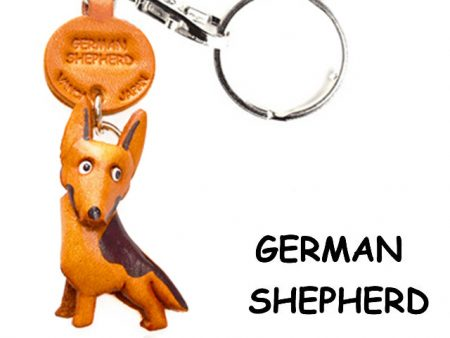GERMAN SHEPHERD LEATHER DOG KEYCHAIN VANCA