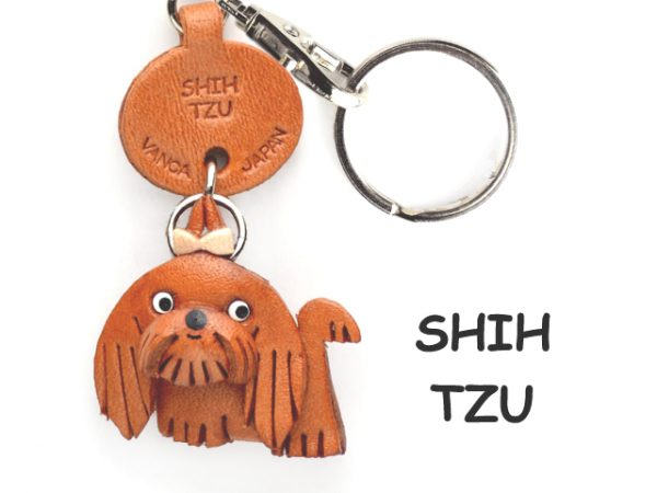SHIH TZU LEATHER DOG KEYCHAIN VANCA