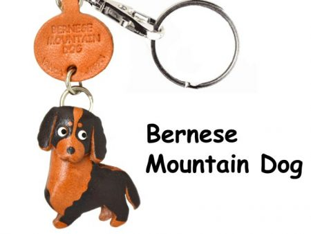 BERNESE MOUNTAIN DOG LEATHER DOG KEYCHAIN VANCA
