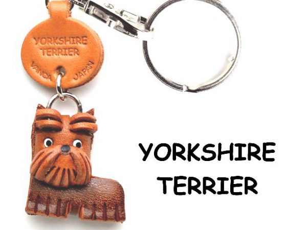 YORKSHIRE TERRIER LEATHER DOG KEYCHAIN VANCA