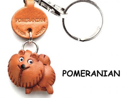 POMERANIAN LEATHER DOG KEYCHAIN VANCA
