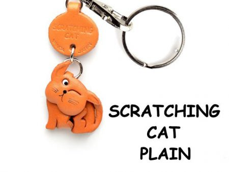SCRATCHING JAPANESE LEATHER CELLULARPHONE CHARM CAT VANCA
