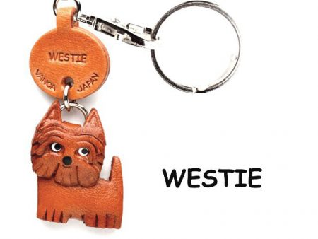 WESTIE LEATHER DOG KEYCHAIN VANCA