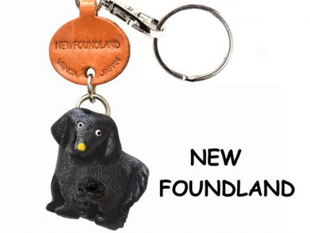 NEWFOUNDLAND LEATHER DOG KEYCHAIN VANCA