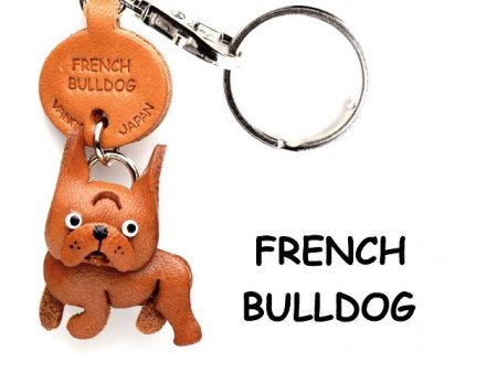 FRENCH BULLDOG LEATHER DOG KEYCHAIN VANCA