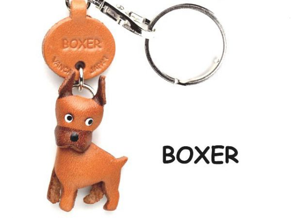 BOXER LEATHER DOG KEYCHAIN VANCA