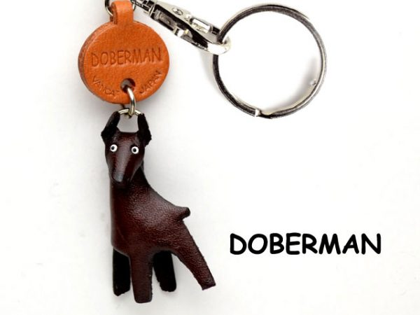 DOBERMAN LEATHER DOG KEYCHAIN VANCA
