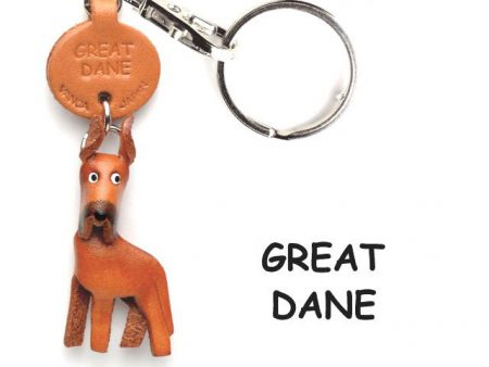 GREAT DANE LEATHER DOG KEYCHAIN VANCA