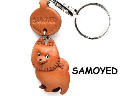 SAMOYED LEATHER DOG KEYCHAIN VANCA