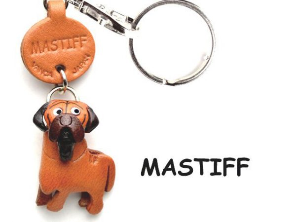 MASTIFF JAPANESE LEATHER DOG KEYCHAIN VANCA