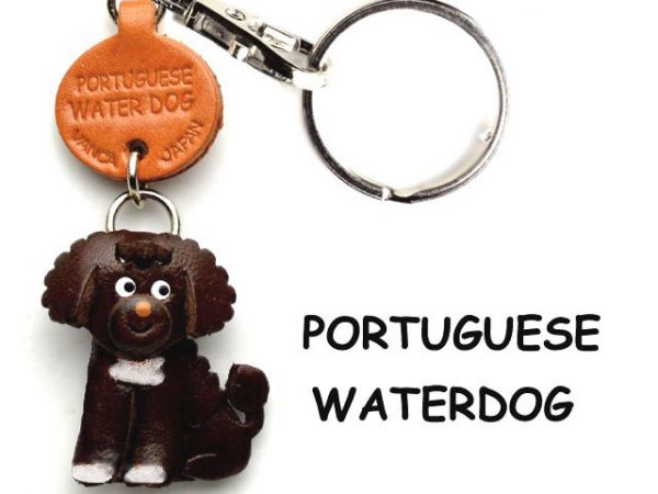 PORTUGUESE WATER DOG LEATHER DOG KEYCHAIN VANCA
