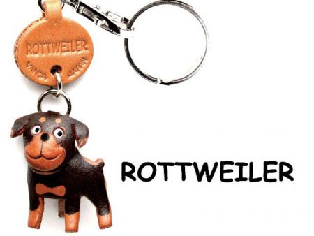 ROTTWEILER LEATHER DOG KEYCHAIN VANCA