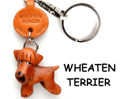 WHEATEN TERRIER LEATHER DOG KEYCHAIN VANCA