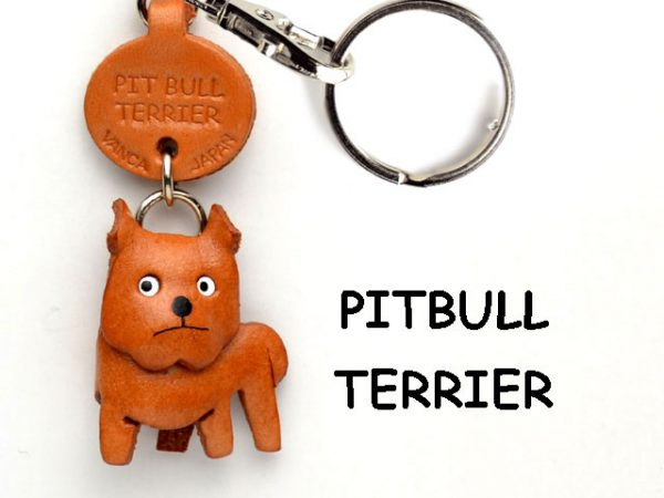 PIT BULL LEATHER DOG KEYCHAIN VANCA