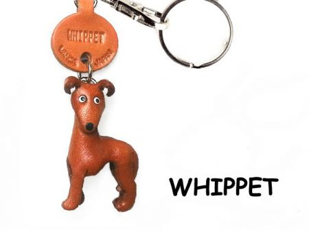 WHIPPET LEATHER DOG KEYCHAIN VANCA