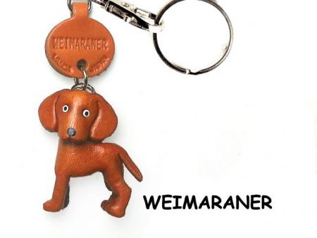 WEIMARANER LEATHER DOG KEYCHAIN VANCA