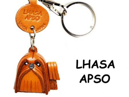 LHASA APSO LEATHER DOG KEYCHAIN VANCA