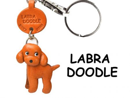 LABRADOODLE LEATHER DOG KEYCHAIN VANCA