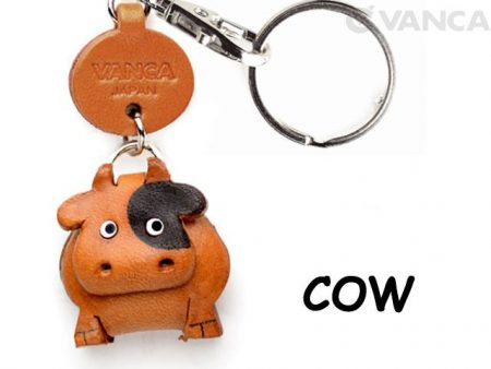 COW LEATHER KEYCHAINS ANIMAL VANCA