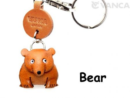 BEAR LEATHER KEYCHAINS ANIMAL VANCA