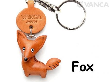 FOX LEATHER KEYCHAINS ANIMAL VANCA