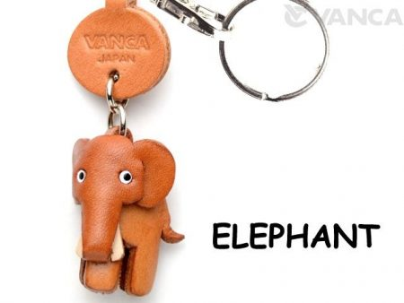ELEPHANT LEATHER KEYCHAINS ANIMAL VANCA