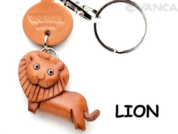 LION LEATHER KEYCHAINS ANIMAL VANCA