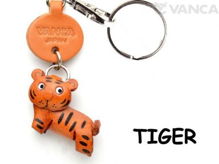 TIGER LEATHER KEYCHAINS ANIMAL VANCA