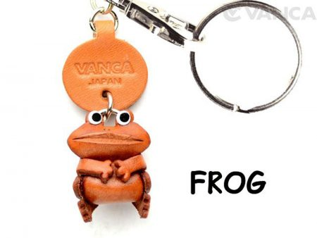 FROG LEATHER KEYCHAINS ANIMAL VANCA