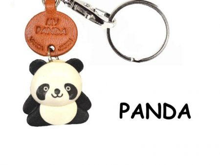PANDA LEATHER KEYCHAINS ANIMAL VANCA