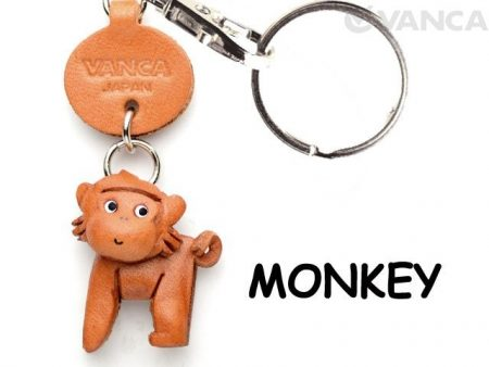 MONKEY LEATHER KEYCHAINS ANIMAL VANCA