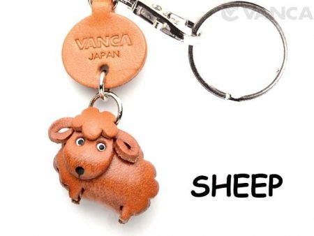 SHEEP LEATHER KEYCHAINS ANIMAL VANCA