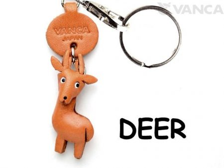 DEER LEATHER KEYCHAINS ANIMAL VANCA