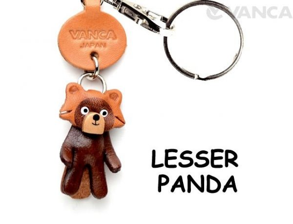 LESSER PANDA LEATHER KEYCHAINS ANIMAL VANCA