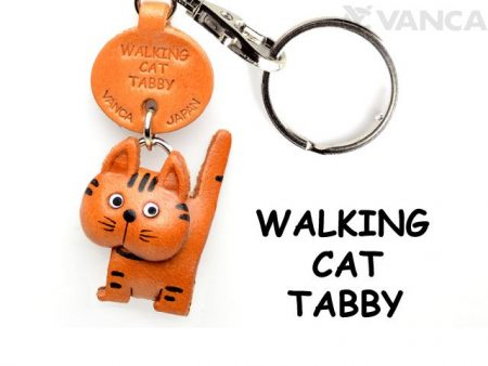 TABBY WALKING LEATHER KEYCHAINS CAT VANCA