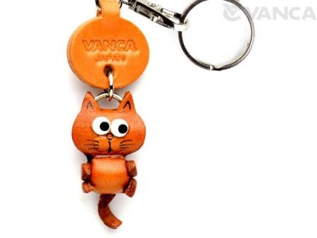 CAT LEATHER KEYCHAINS LITTLE ZODIAC MASCOT VANCA