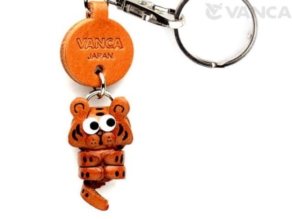 TIGER LEATHER KEYCHAINS LITTLE ZODIAC MASCOT