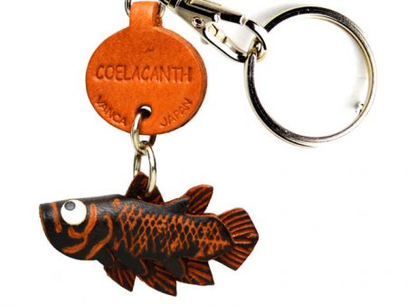 COELACANTH LEATHER KEYCHAINS FISH VANCA
