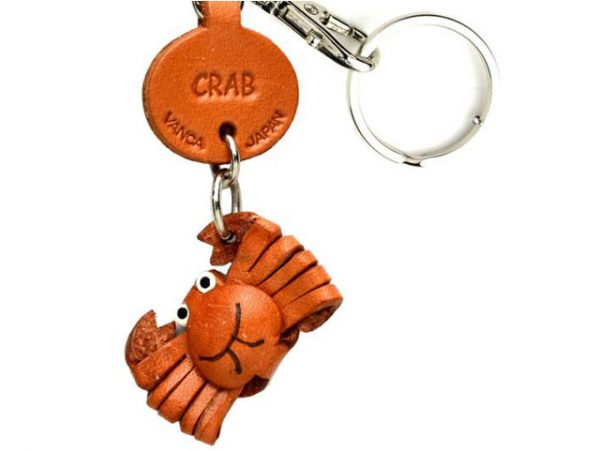 CRAB LEATHER KEYCHAINS FISH VANCA