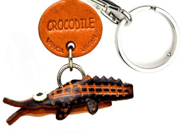 CROCODILE LEATHER KEYCHAINS FISH VANCA