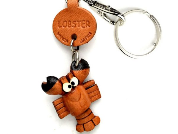 LOBSTER LEATHER KEYCHAINS FISH VANCA