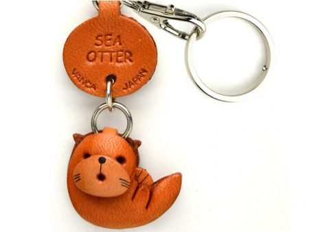 SEA OTTER LEATHER KEYCHAINS FISH VANCA
