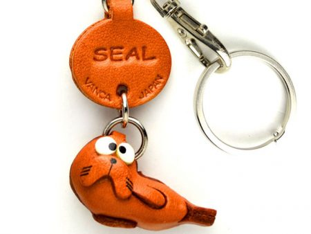 SEAL LEATHER KEYCHAINS FISH VANCA