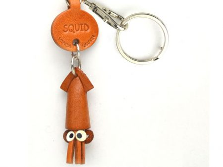 SQUID LEATHER KEYCHAINS FISH VANCA