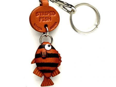 STRIPED FISH LEATHER KEYCHAINS FISH VANCA