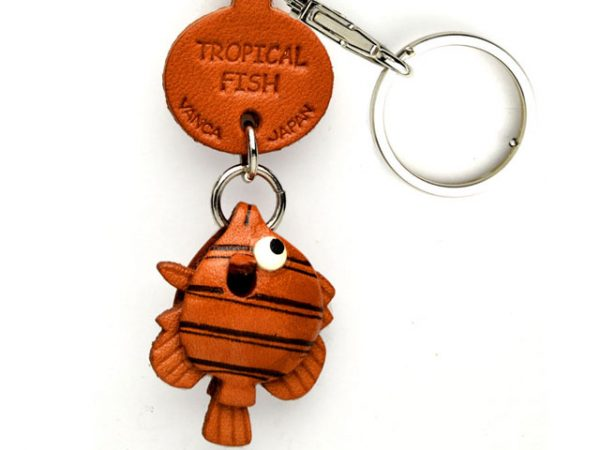 TROPICAL FISH LEATHER KEYCHAINS FISH VANCA