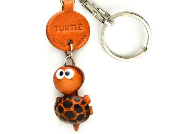 TURTLE LEATHER KEYCHAINS FISH VANCA